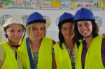 Employees of the PBG Group visit the construction site of the sewer system for the Czajka wastewater treatment plant