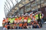 Warsaw seen through the eyes of Wysogotowo: employees of the PBG Group visit the construction site of the National Stadium
